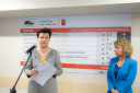 Fot.– Ewelina Lach otwarcie placówki przy ul Młynarskiej Pani Prezydent m. st. Warszawy i Dyrektor Urzędu Pracy.png